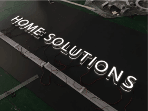Single 3D LED Lit Lettering Signs