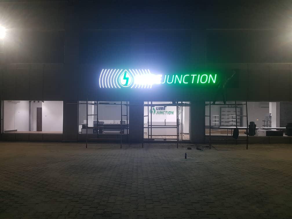 Retro Illuminated Signs at Malls